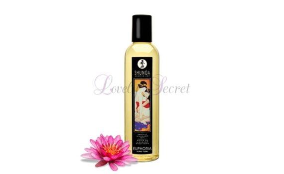 huile de massage shunga erotique euphoria floral